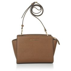 Super ease & chic is the Michael Michael Kors handbag: Selma MD Messenger Luggage! Works on daily business outfits or just casual for weekend styles. Fashionette.de