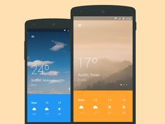 Weather app based on android material design. Attachments for real pixels.
