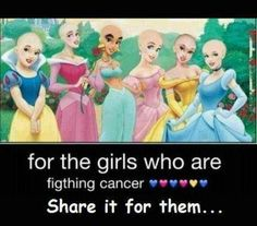 Here you go you're beautiful just like these girls even when you have cancer please don't think you don't fit in your the same as everyone else except your little bit more special you fight on girls and be saying