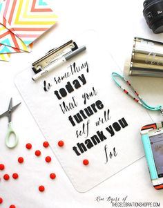 DIY Vinyl Clipboard | Kim Byers, TheCelebrationShope.com | #motivation #inspiration #girlpower @Cricut