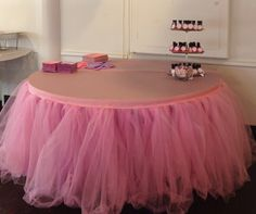 Custom Tulle Tutu Table Skirt Wedding, Birthday, Baby Shower by BaileyHadaParty on Etsy https://www.etsy.com/listing/178128423/custom-tulle-tutu-table-skirt-wedding