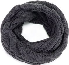 """MOTINE Women's Winter Thick Ribbed Knit Warm Circle Loop Infinity Scarf (Grey). High Quality Materials: Made of high quality Pashmina,soft,chunky,comfortable, perfect touching feeling scarf for women, girls. Wrapped around your neck will keep you warm all day long. Dimensions: 48"""" circumference x 12""""W. Our infinity scarf can be worn as a single or a double loop whatever you like. Various beautiful colors are available and different ways to wrap the knitted infinity scarf. Our scarves will…"""