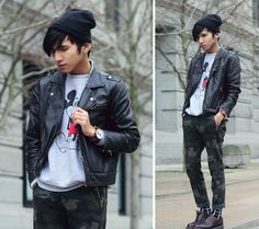 Mickey and Camou (by Mc kenneth Licon) http://lookbook.nu/look/4543679-Mickey-and-Camou