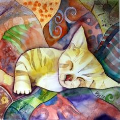 Cuddly kitty... Want to do a piece of art similar to this as a tribute to my favorite kitty ever... Kiera