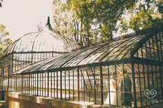 Rocío y Gerard en el antiguo invernadero de Hacienda Nadales.