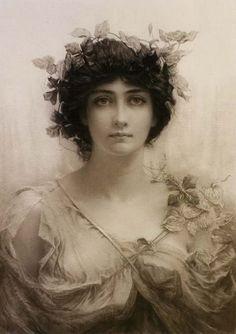 Sir Hubert von Herkomer (1849-1914), Clématis art http://www.annabelchaffer.com/