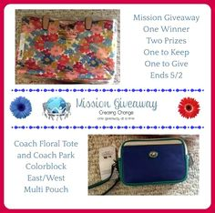 #Missiongiveaway Win 1 Coach Bag & Give the Other! ends 5/2- US only