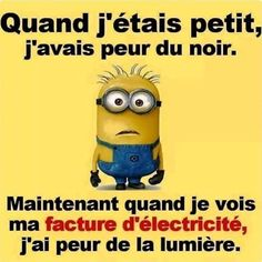Electricity bill a nightmare – Humour Funny Facts, Funny Jokes, Minion S, Quote Citation, Image Fun, Learn French, Funny Photos, Are You Happy, Decir No