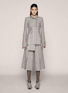 Proenza Schouler Mid Length Double Breasted Jacket in Gray