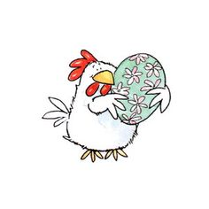thestampbuzz : Product Detail Chicken Painting, Chicken Art, Easter Bunny Pictures, Easter Paintings, Art Drawings For Kids, Easter Printables, Galo, Hello Spring, Animal Cards