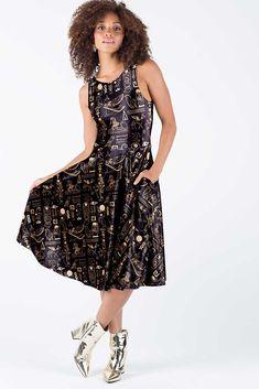 e9c1cf08fbe21 Hieroglyphics Gold Velvet Princess Midi Dress - Limited. Black Milk ...