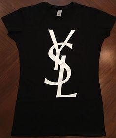 Lettles YSL Ladies Crewneck T-shirt fashion women Top t-shirt woman | eBay