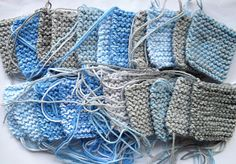 Sky Blanket Knitting Project - knit a square every day for a year based on the color of the sky, and sew squares into a blanket. would love to do this - maybe from one birthday to the next? original blog post about the project here: Going to do this next year! :D x