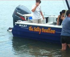 The Salty Swallow - Funny Boat Name