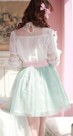 pastels and lace and bows