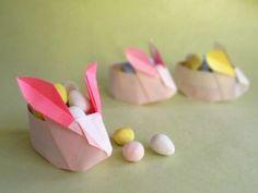Origami Easter Rabbit Basket