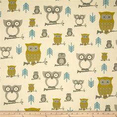 Premier Prints Hooty Summerland/Natural - Discount Designer Fabric - Fabric.com / Harry Potter quilt