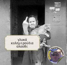Funny Animal Pictures, Funny Animals, Funny Greek Quotes, Good Morning, Humor, Kai, Photos, Instagram, Buen Dia