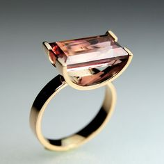 elacindoruknazanpak: Sugar Ring in 14K gold with tourmaline