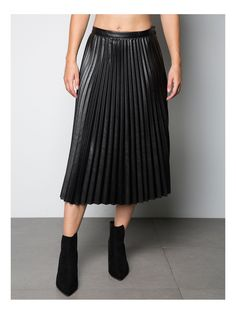 Falda midi plisada | Oxygene Fashion
