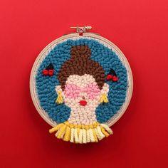 Punch needle embroidery by Studio Myome