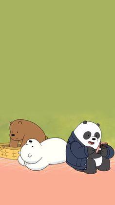 Cute Panda Wallpaper, Funny Phone Wallpaper, Bear Wallpaper, Cute Disney Wallpaper, Kawaii Wallpaper, We Bare Bears Wallpapers, Panda Wallpapers, Cute Cartoon Wallpapers, Ice Bear We Bare Bears