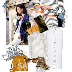"""""""Saturday in stripes"""" by sarapires on Polyvore"""