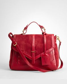 Like Tory Burch 2012 Suede Messenger Bag - Red - $189.00 .