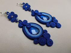 Blue power - soutache earrings