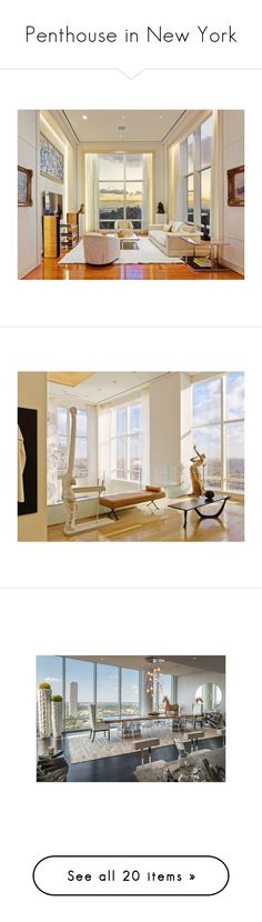 """""""Penthouse in New York"""" by medicicapetiens ❤ liked on Polyvore featuring house"""