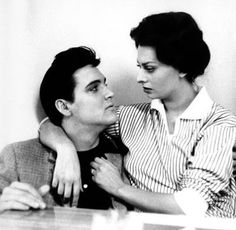 MUTUAL ADMIRATION - Elvis Presley & Sophia Loren while shooting two separate films at Paramount Pictures.