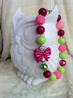 Chunky necklace, cake smash accessory , gumball necklace, baby necklace, little girl photoshoot, photography prop, on Etsy, $16.00 CAD