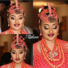 Benin Princess.❤ Makeup by @stephannbeauty. ~African fashion, Ankara, kitenge, African women dresses, African prints, African men's fashion, Nigerian style, Ghanaian fashion ~DKK