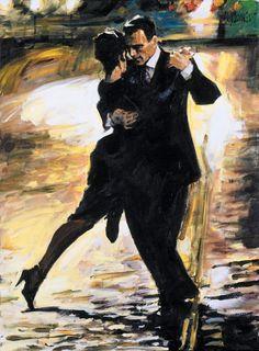 "Aldo Luongo painting ""Tango en Passion"""
