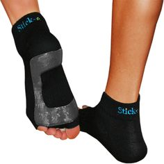 These socks are perfect for helping to stick yoga poses. Toes are still free to grip the mat while the sticky non-slip bottom helps in that regard also. The socks are also great for winter pedicures! Workout Gear, Gym Workouts, Yoga Shoes, Outdoor Apparel, Running Gear, Cool Socks, Pilates, Exercise, Fitness