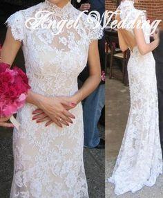 Custom Wedding Dress Vintage Lace Wedding by AngelWeddingDress, $328.00