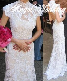 Custom Wedding Dress Vintage Lace Wedding by AngelWeddingDress, $328.00