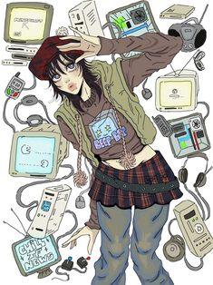 Pretty Art, Cute Art, Character Art, Character Design, Grunge Art, Funky Art, Aesthetic Art, Aesthetic Drawings, Art Sketchbook