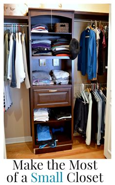 Small space living: making the most out of a small master closet using a store bought kit. www.chatfieldcourt.com