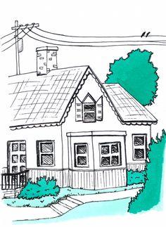 Desenho do Dia #156 - Casebre - Soraia Casal