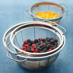 stainless-steel-mesh-colander-set from Williams Sonoma or Pampered Chef