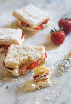 Strawberry and Cream Napoleans - What a beautiful summer treat that isn't so good for a summer body. You have to live a little from time to time : )