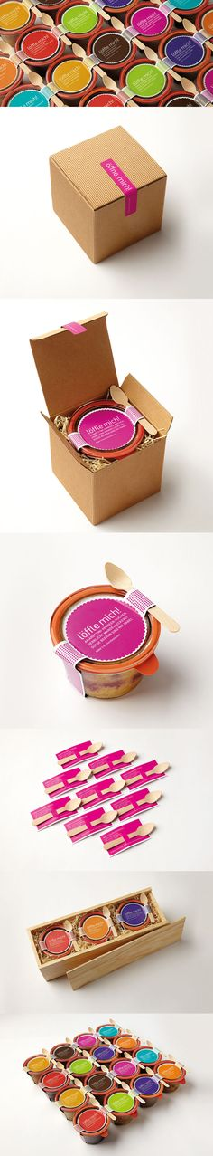 löffle mich! + cakes in jars. In love with this yummy cake #packaging PD