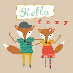 """Fox and Vixen"" valentine by Faye Gollaglee."