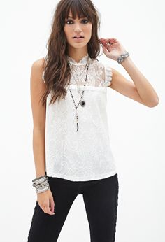 Floral Lace Top | FOREVER21 - 2000120478