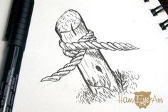 EastBay Sketch Ropes - Illustrated by Heather Martinez Creative Designs