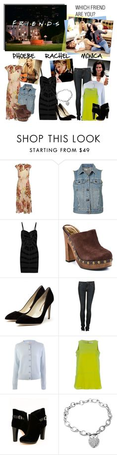 """Which Friend Are You: Monica, Phoebe or Rachel?"" by polyvore-editorial ❤ liked on Polyvore featuring SUNO New York, Rachel, Hervé Léger, Fergie, Rupert Sanderson, Marc by Marc Jacobs, Schumacher, Vena Cava and friends"