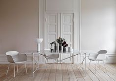 """Invited by Maison&Objet to give the """"Jury Découvertes"""" Award, I chose Danish company: Handvärk for their gorgeous marble coffee table 90 Home And Living, Living Room, White Dining Table, Design Furniture, White Houses, Beautiful Interiors, Decoration, Home Decor, Danish Design"""