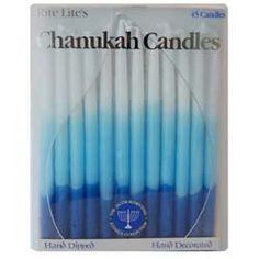Handmade Hanukkah Candles - Blue | Audrey's Museum Store at the Skirball