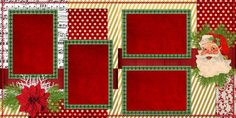 Santa Christmas - Double Layout Scrapbook pages by EZscrapbooks.com Only 3.25! We offer designs in both Physical AND digital formats. Just add photos!